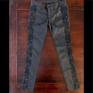 EUC Rag & Bone Floral Embroidered Skinny Pants -28